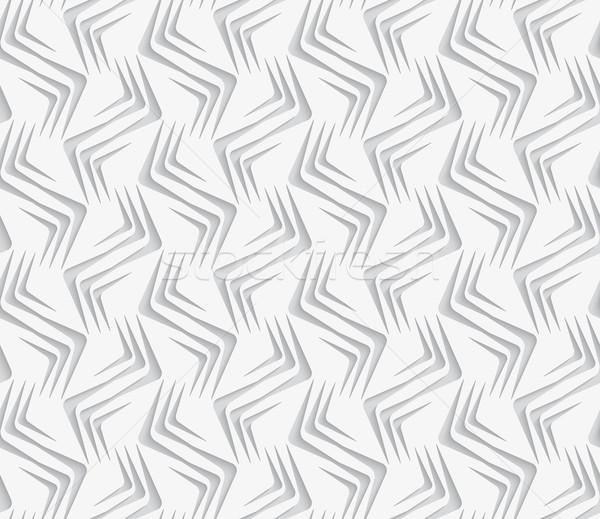 Geométrico ornamento blanco sin costura geométrico moderna Foto stock © Zebra-Finch