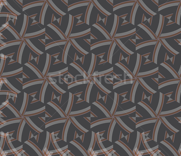 Textured ornament with hexagons and stripes Stock photo © Zebra-Finch