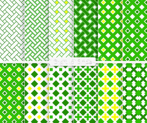 Parlak basit yeşil sarı kareler model Stok fotoğraf © Zebra-Finch