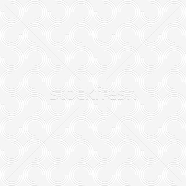 3D white offset c shapes Stock photo © Zebra-Finch