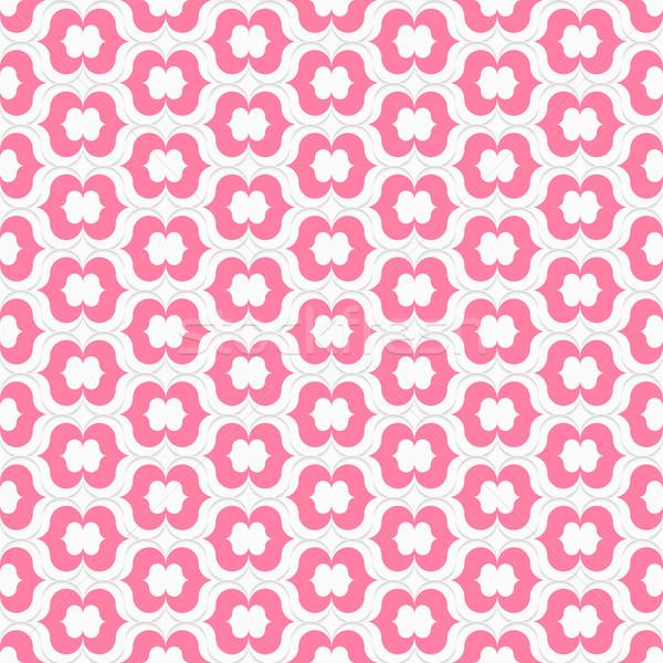 Różowe usta bezszwowy geometryczny nowoczesne 3D tekstury Zdjęcia stock © Zebra-Finch