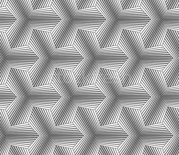 Monochrome gradually striped pointy tetrapods Stock photo © Zebra-Finch