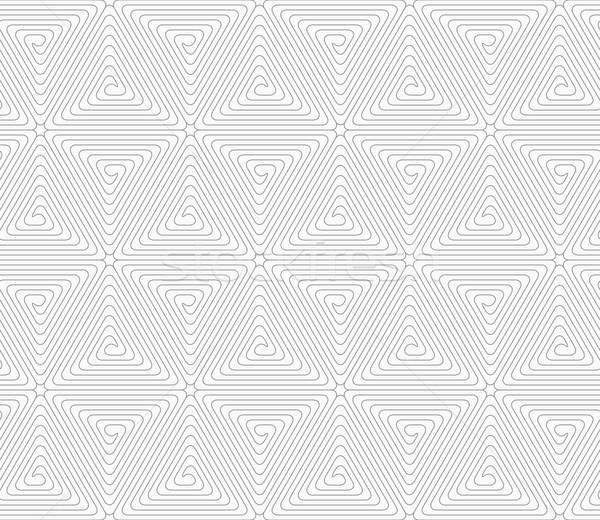 Karcsú szürke háromszög kockák végtelenített mértani Stock fotó © Zebra-Finch
