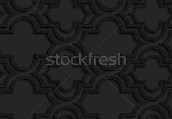 Black textured plastic Marrakech with offset Stock photo © Zebra-Finch