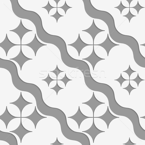 4 波 幾何学的な 現代 モノクロ 3D ストックフォト © Zebra-Finch