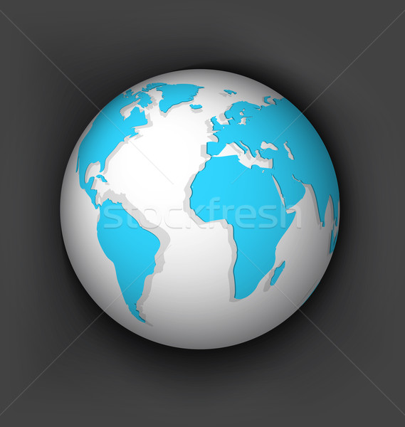 White globe vector Stock photo © Zebra-Finch