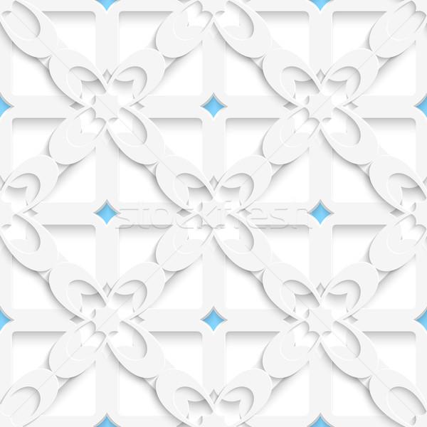 Diagonale bianco grande fiori blu Foto d'archivio © Zebra-Finch