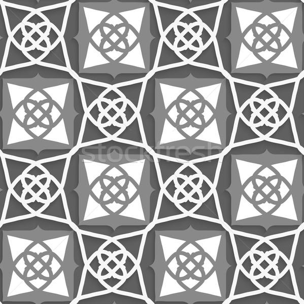 Geometrical Arabian ornament with white and grays Stock photo © Zebra-Finch