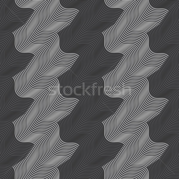 Repeating ornament vertical white and black waves Stock photo © Zebra-Finch