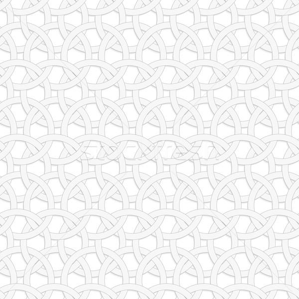 3D interlocking circles on white Stock photo © Zebra-Finch