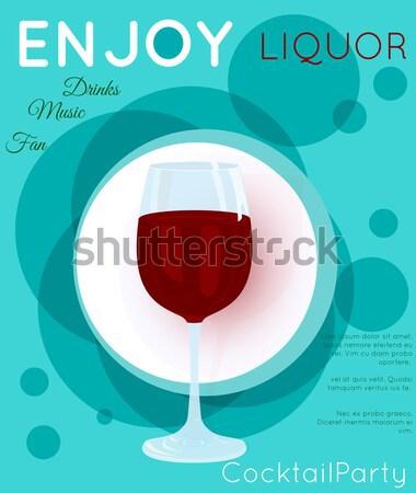 Glass of red wine Stock photo © Zebra-Finch