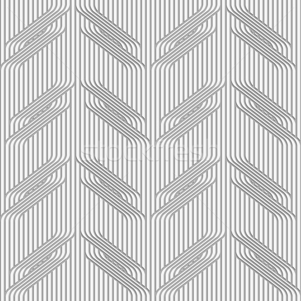 Perforated paper with branches on continues lines Stock photo © Zebra-Finch
