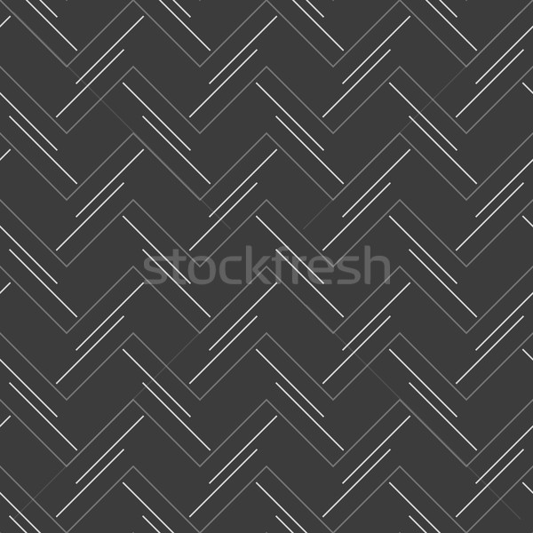 Photo stock: Monochrome · modèle · horizontal · zigzag
