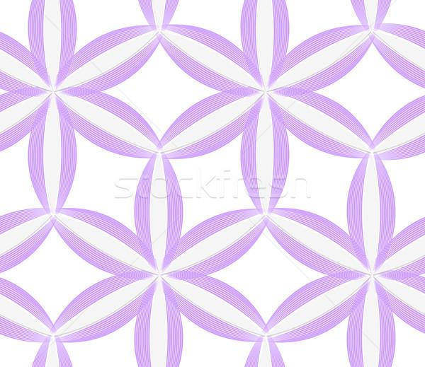 3D púrpura geométrico flor sin costura Foto stock © Zebra-Finch