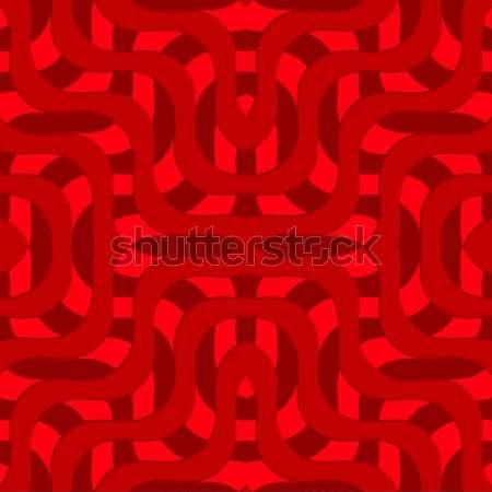 Retro 3D kırmızı dalgalar model Stok fotoğraf © Zebra-Finch