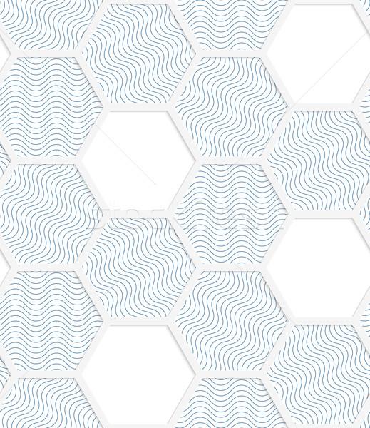 白 3D 色 グリッド 青 幾何学的な ストックフォト © Zebra-Finch