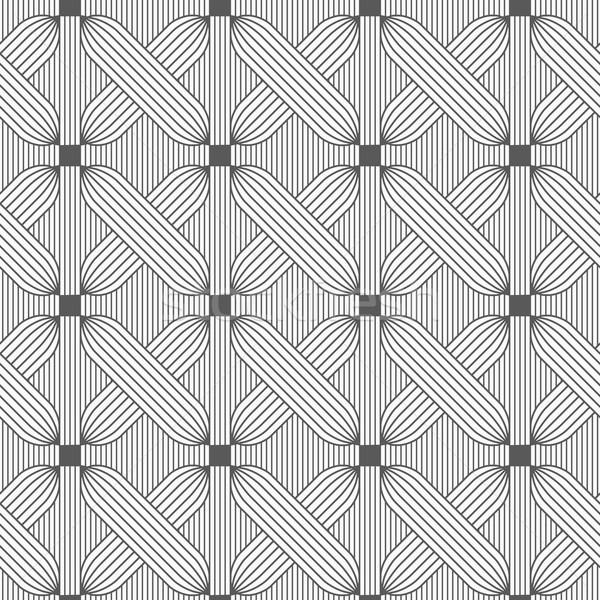 Ince gri haçlar şık geometrik Stok fotoğraf © Zebra-Finch