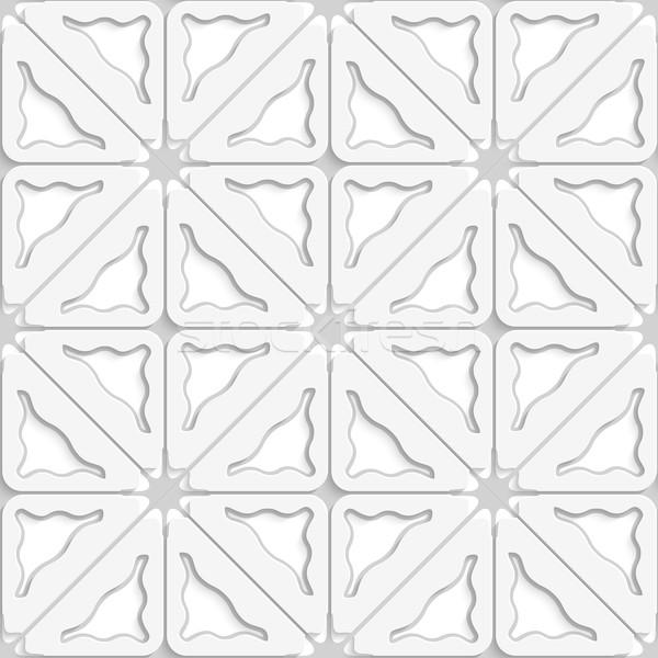 Háromszög hullámos szürke réteges végtelenített absztrakt Stock fotó © Zebra-Finch