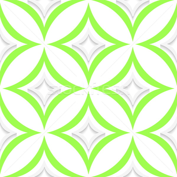 White and green pointy rhombuses seamless Stock photo © Zebra-Finch