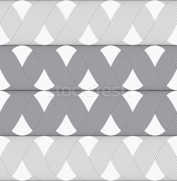 Ribbons gray shades crosses grid pattern Stock photo © Zebra-Finch