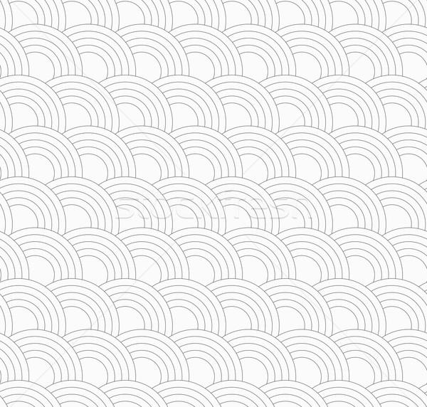 Slim gray offset overlapping circles Stock photo © Zebra-Finch