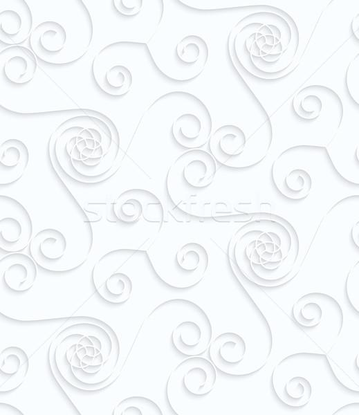 Papír sok mértani végtelen minta 3D kivágás Stock fotó © Zebra-Finch