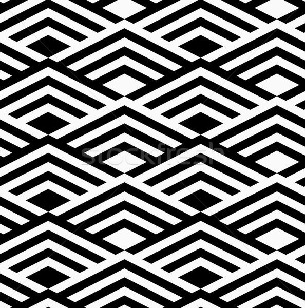 黒白 縞模様の ダイヤモンド スタイリッシュ 幾何学的な 現代 ストックフォト © Zebra-Finch