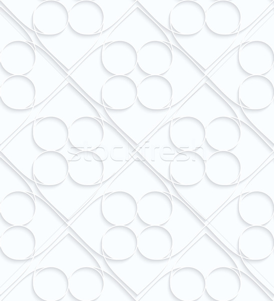 Quilling white paper circles inside squares Stock photo © Zebra-Finch