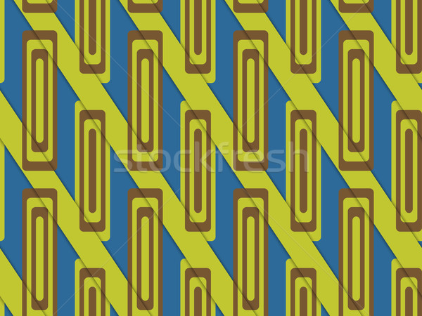 Retro 3D blue and green diagonally cut with rectangles Stock photo © Zebra-Finch