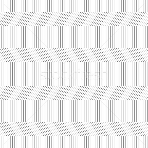 Gray ornament with warping stripes slim Stock photo © Zebra-Finch