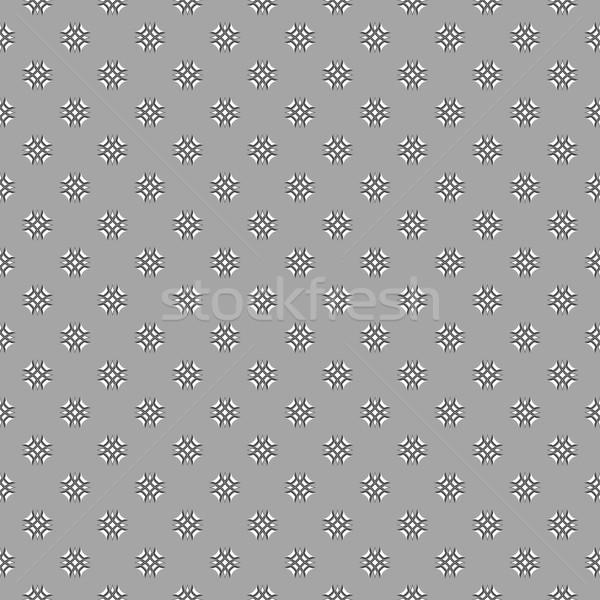 グレー 飾り 白 黒 モザイク 交差 ストックフォト © Zebra-Finch