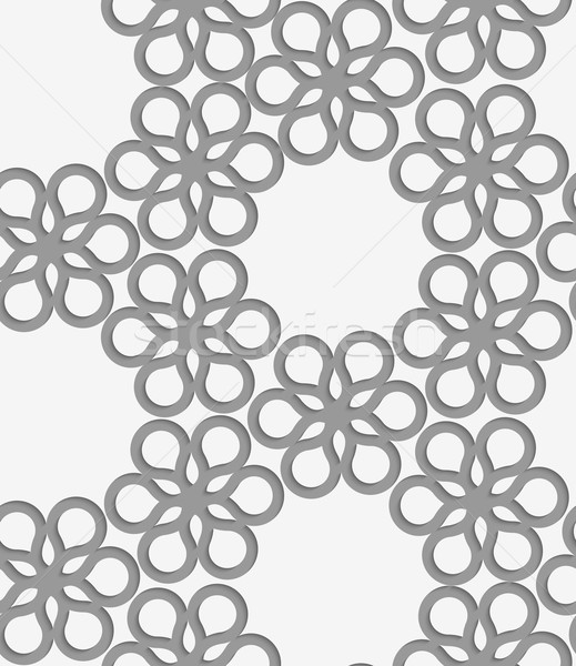 Papír virágmintás csempe elegáns 3D minta Stock fotó © Zebra-Finch