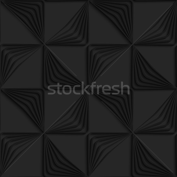 Black 3d striped triangles wind turns Stock photo © Zebra-Finch