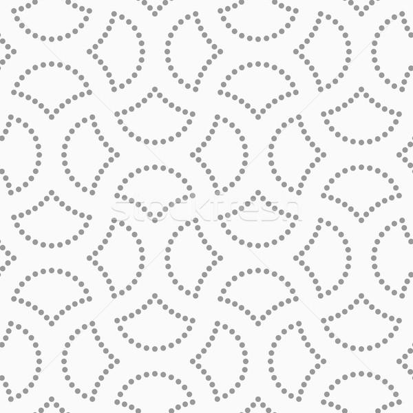 Pontilhado cortar círculo pin abstrato geométrico Foto stock © Zebra-Finch