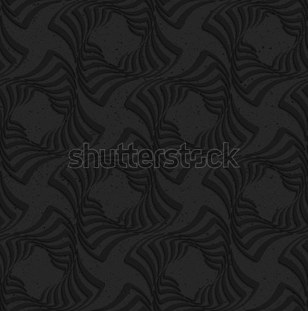 Textured black plastic twisted squares Stock photo © Zebra-Finch