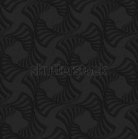 Mintázott fekete műanyag négyzetek végtelenített geometrikus minta Stock fotó © Zebra-Finch