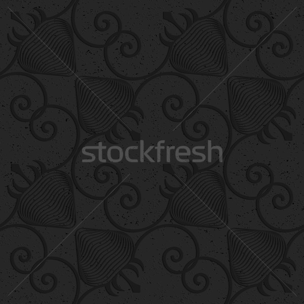 Black textured plastic diagonal striped strawberries Stock photo © Zebra-Finch