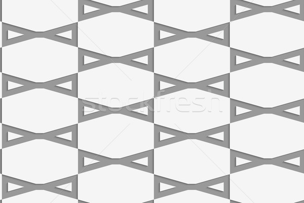 Stock photo: Perforated bows in grid