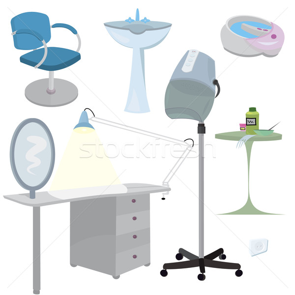 Beauty salon furniture  icon set   Stock photo © Zebra-Finch