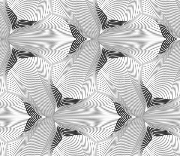 Ince gri çiçek soyut geometrik Stok fotoğraf © Zebra-Finch