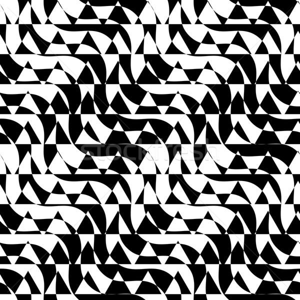 черно белые диагональ треугольник Cut геометрический Сток-фото © Zebra-Finch