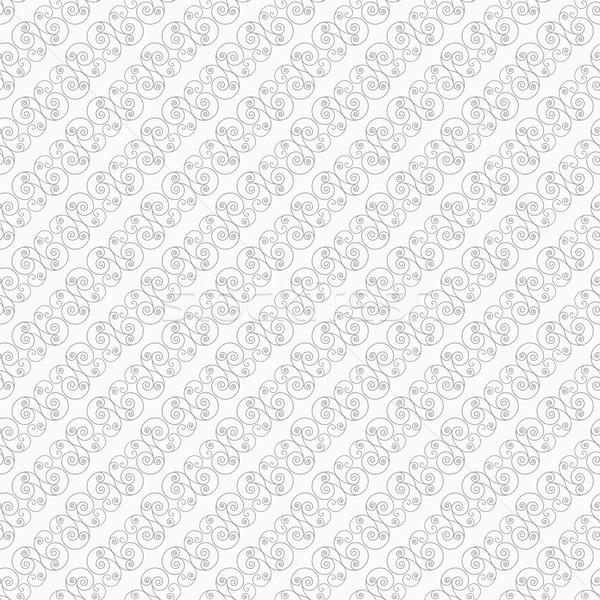 Mince gris diagonal tourbillons élégant géométrique Photo stock © Zebra-Finch