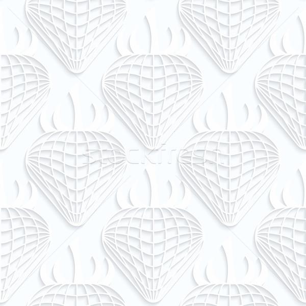 Blanco papel fresas geométrico Foto stock © Zebra-Finch