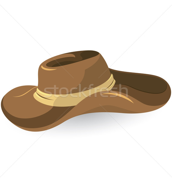 Brown cowboy hat Stock photo © Zebra-Finch