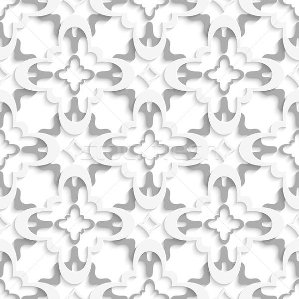 Minta fehér szürke rétegek absztrakt 3D Stock fotó © Zebra-Finch