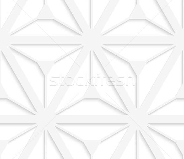 3D white grid with six ray stars Stock photo © Zebra-Finch