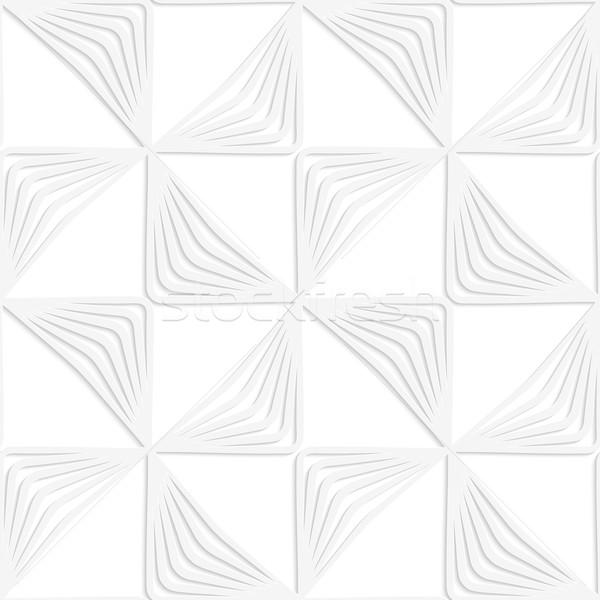 Paper white striped rotated triangles Stock photo © Zebra-Finch