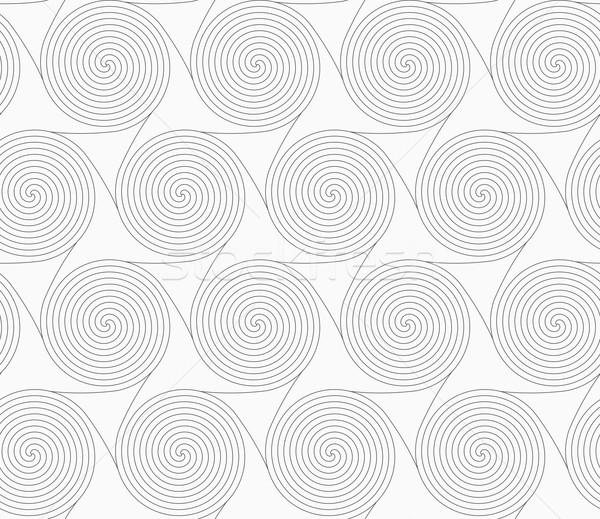 Slim gray merging spirals with triangles Stock photo © Zebra-Finch