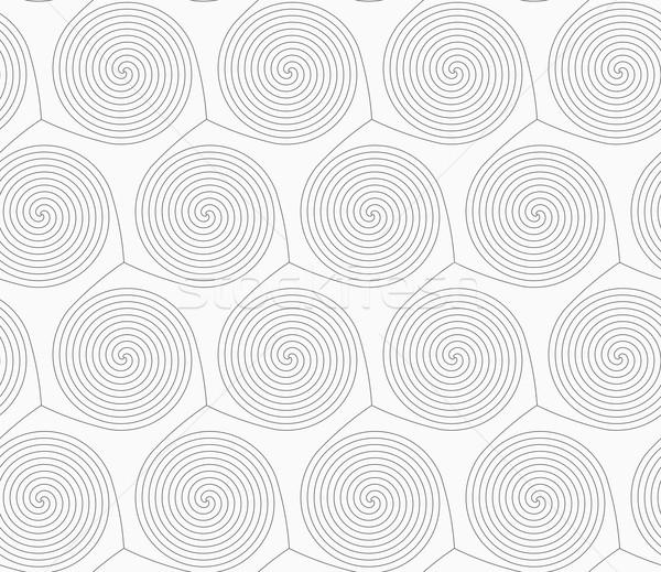 Slim gray merging spirals Stock photo © Zebra-Finch