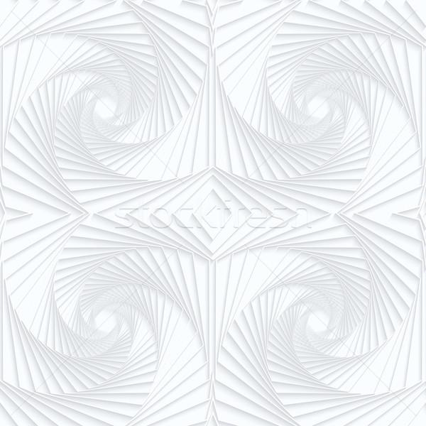 Quilling white paper striped swirls Stock photo © Zebra-Finch